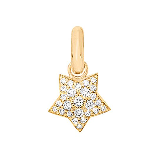 Mestergull Charm Magic Star Sweet Drops i 18 kt. gult gull med 27 diamanter totalt 0,53 ct. TwVs LYNGGAARD Sweet Drops Charm