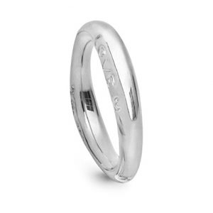 Mestergull Love Ring nr. 3 i 18 kt. Hvitt gull blank overflate LYNGGAARD Love Ring