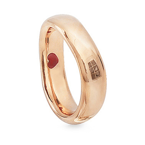 Mestergull Love Ring nr. 6 i 18 K Rosé gull til Herre 6-6,5mm blank overflate LYNGGAARD Love Ring
