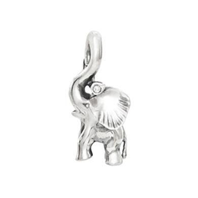 Mestergull Charm elefant Sweet Drops i sølv med diamant 0,005 ct TwVs LYNGGAARD Sweet Drops Charm