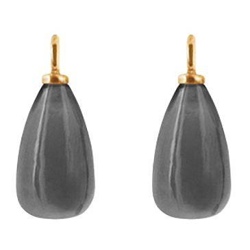 Mestergull Vedheng til ørepynt i 18kt. gult gull med grå månesten LYNGGAARD Ørepynt
