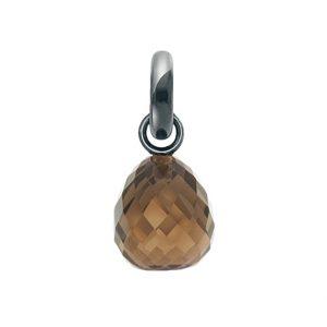 Mestergull Charm Sweet Drops oksidert sølv med fasettert Røkkvarts LYNGGAARD Sweet Drops Charm