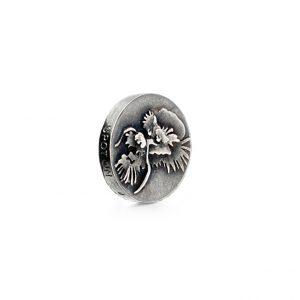 Mestergull Charm Spot On i sølv med oksidert drage LYNGGAARD Spot On Charm