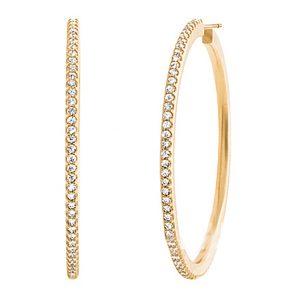 Mestergull Love Band Creol øreringer i 18 K Gult gull med 160 diamanter totalt 1,60 ct. TwVs Ø:38mm LYNGGAARD Love Ørepynt