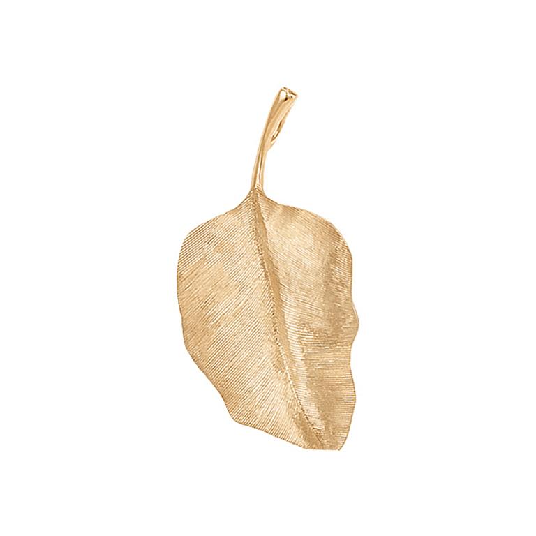 Mestergull Leaves anheng i 18 K Gult gull 4 cm LYNGGAARD Leaves Anheng