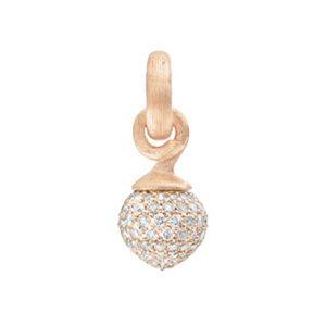Mestergull Charm liten Sweet Drops med 18 K Rosé gull og gult gull pavé med 115 diamanter totlt 0,68 ct. TwVs LYNGGAARD Sweet Drops Charm
