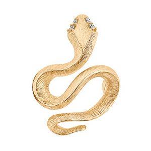 Mestergull Snakes Sweet Spot i 18 K Gult gull med 4 diamanter totalt 0,04 ct. TwVs LYNGGAARD Sweet Spot Charm