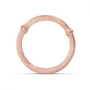 Mestergull Nature Ring nr. 2 i 18 K Rosé gull LYNGGAARD Nature Ring