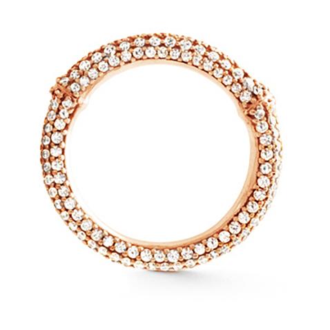 Mestergull Nature Ring i 18 K Rosé gull pavé med 49 - 62 diamanter totalt 1,01 - 1,57 ct. TwVs LYNGGAARD Nature Ring