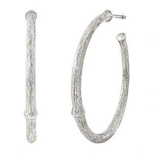 Mestergull Nature øreringer stor i sølv 30 mm LYNGGAARD Nature Ørepynt
