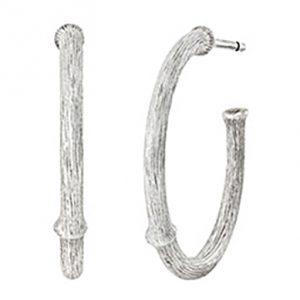 Mestergull Nature øreringer medium i sølv 21 mm LYNGGAARD Nature Ørepynt