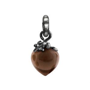 Mestergull Charm filigran Sweet Drops i sølv med røkkvarts LYNGGAARD Sweet Drops Charm