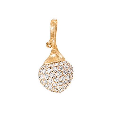 Mestergull My Little World charm 18 K Gult gull med 76 diamanter totalt 0,47 ct. TwVs LYNGGAARD My Little World Charm