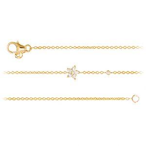 Mestergull Shooting Stars armbånd i 18 K Gult gull med 7 diamanter totalt 0,11 ct 16-19 cm LYNGGAARD Shooting Stars Armbånd
