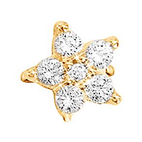 Mestergull Shooting Stars Sweet Spot i 18 K Gult gull med 6 diamanter totalt 0,49 ct. TwVs LYNGGAARD Sweet Spot Charm