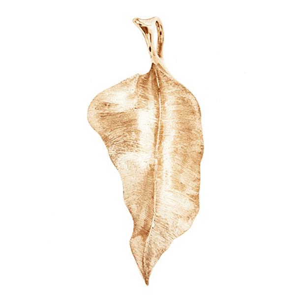 Mestergull Leaves anheng i 18 K Gult gull 5,7 cm LYNGGAARD Leaves Anheng