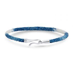 Mestergull Life armbånd med lås i 18 K Hvitt gull Blue Jeans (15, 16, 17, 18, 19, 20, 21 cm) LYNGGAARD Life Armbånd