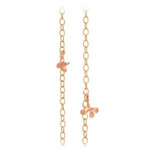 Mestergull Lotus collier anker medium i 18 K Gult gull med 2 blad i rosé gull 90 cm LYNGGAARD Lotus Kjede