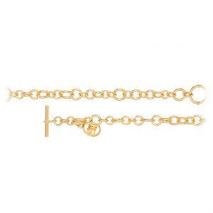 Mestergull My Little World armbånd i 18 K Gult gull med logo (17, 18, 20, 22 cm) LYNGGAARD My Little World Armbånd