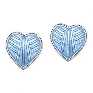 Mestergull Ørepynt i sølv og lys blå emalje PIA & PER Ørepynt