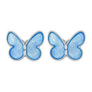 Mestergull Ørepynt med summerfygl i sølv og lys blå emalje PIA & PER Ørepynt