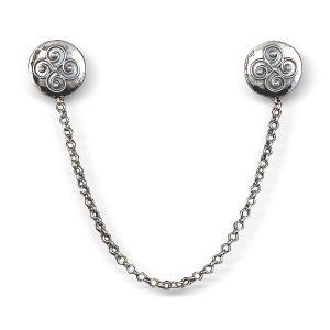 Mestergull Sjalfeste i oksidert sølv med påloddet filigran. Tradisjonelt mye brukt i Rogaland. NORSK BUNADSØLV Nål