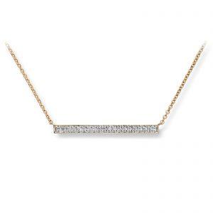 Mestergull Lekkert kjede i gult gull med diamanter MG DIAMONDS Kjede
