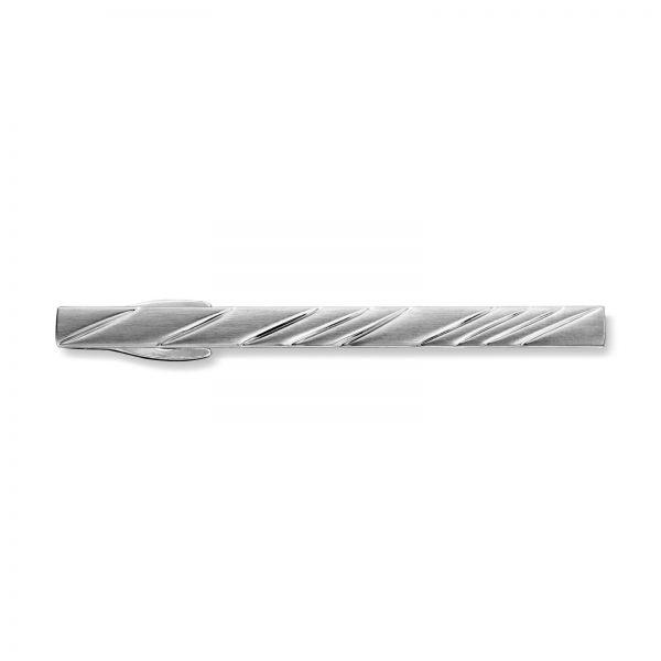 Mestergull Tøff rhodinert slipsnål med mønster MISTER Slipsnål