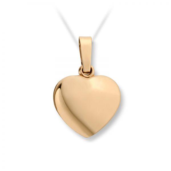 Mestergull Enkelt hjerteanheng medium i gult gull MG BASIC Anheng