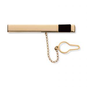 Mestergull Flott slipsnål i gull med onyx MESTERGULL Slipsnål
