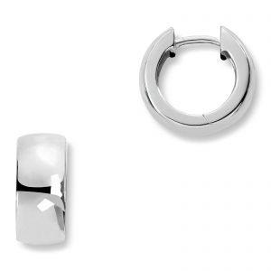 Mestergull Trendy øreringe i rhodinert sølv MESTERGULL Ørepynt