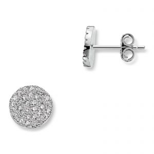 Mestergull Delikat ørepynt i rhodinert sølv med cubic zirkonia MG BASIC Ørepynt