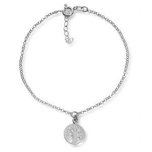 Mestergull Flott ankellenke i sølv med livetstre MESTERGULL Ankellenke