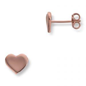 Mestergull Roseforgylte hjerteørepynt i sølv MG BASIC Ørepynt