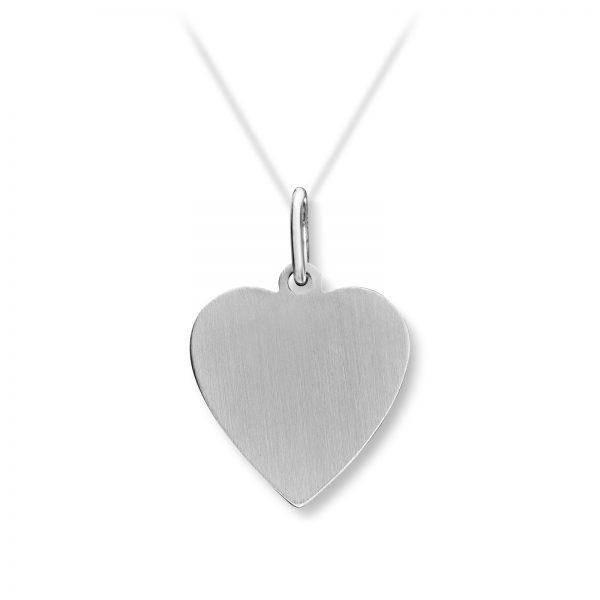 Mestergull Enkelt hjerteanheng i sølv MESTERGULL Anheng
