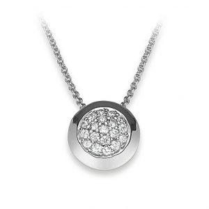 Mestergull Enkelt kjede i rhodinert sølv med cubic zirkonia VIVENTY Kjede