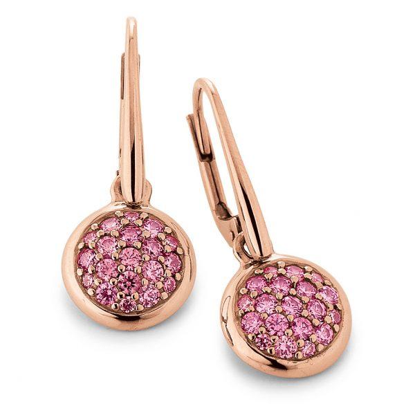 Mestergull Flott ørepynt i rosèforgylt sølv med rosa cubic zirkonia VIVENTY Ørepynt