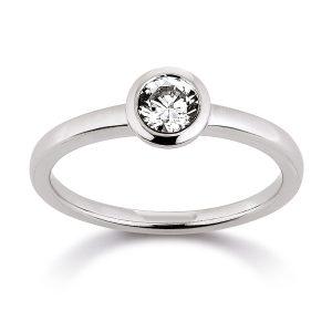 Mestergull Klassisk ring i rhodinert sølv med cubic zirkonia VIVENTY Ring