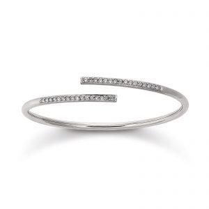 Mestergull Tøff armring i rhodinert sølv med cubic zirkonia VIVENTY Armring