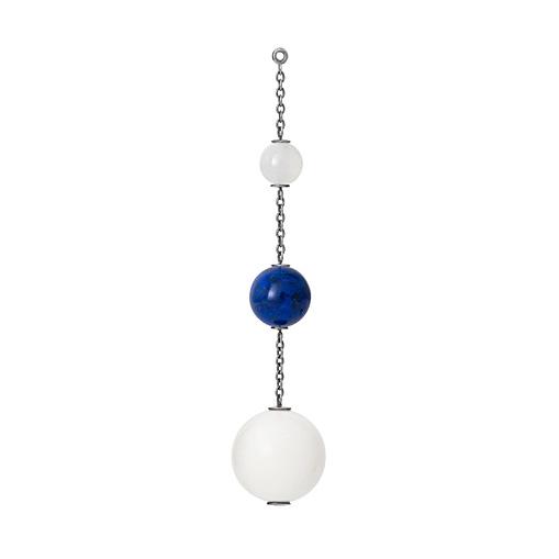 Mestergull Vedheng til ørepynt i sterling sølv med hvit månesten, lapis lazuli og skjell. Selges enkeltvis. LYNGGAARD Ørepynt