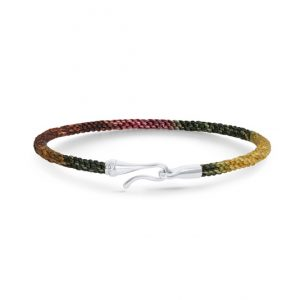 Mestergull Life armbånd med Hvitt gull lås i fargen Plum (15, 17, 18, 19, 20 eller 21 cm) LYNGGAARD Life Armbånd
