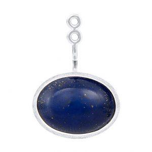 Mestergull Vedheng til Lotus ørepynt i 18 kt. Hvitt gull med lapis lazuli. LYNGGAARD Lotus Ørepynt
