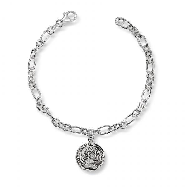 Mestergull Trendy armbånd mynt i oksidert sølv GID Armbånd
