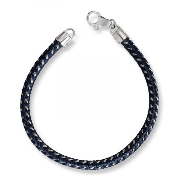 Mestergull Tøft herrearmånd med blå snor MESTERGULL Armbånd
