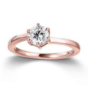 Mestergull Stilren ring i rosèforgylt sølv med cubic zirkonia VIVENTY Ring