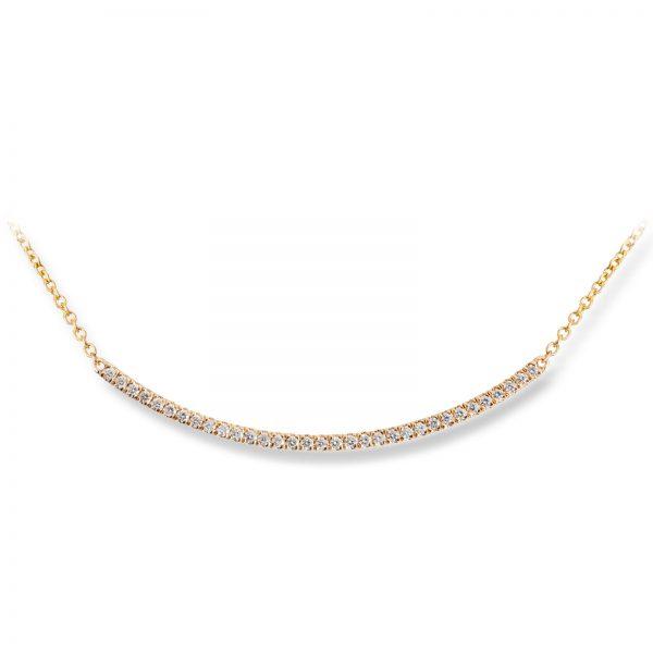 Mestergull Delikat kjede i gult gull med diamanter MG DIAMONDS Kjede