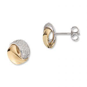 Mestergull Vakker ørepynt i flerfarget gull med diamanter MG DIAMONDS Ørepynt