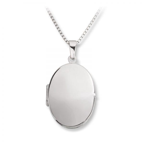 Mestergull Søt medaljong i rhodinert sølv for gravering MESTERGULL Anheng