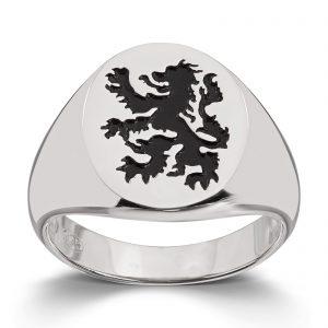 Mestergull Tøff signetring i rhodinert sølv MESTERGULL Ring