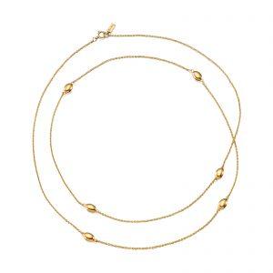Mestergull 'Love beads' in silver and gold. - Efva Attling EFVA ATTLING Love Bead Kjede